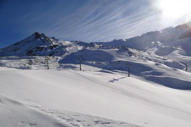 Good layer of snow on Ischgl's slopes. Photo taken Nov. 20, 2012