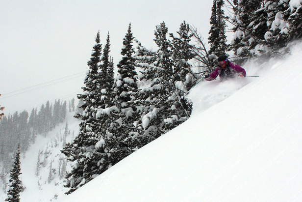 Jackson opened top-to-bottom this weekend. Photo courtesy of Jackson Hole Mountain Resort.