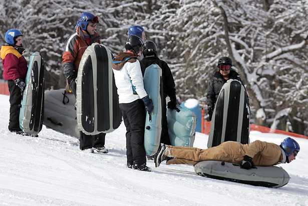 Tubers line up to take a run. Photo Courtesy of Canaan Valley Resort.