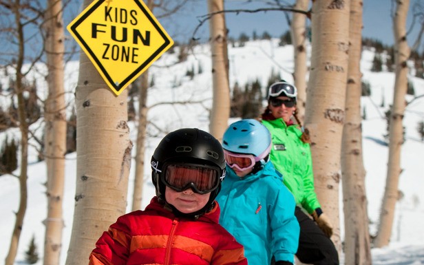 Grand Targhee has a fun zone for kids. Photo courtesy of Grand Targhee Resort.