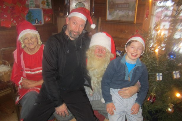 Patrick and Robert meeting Santa in Lapland - ©Patrick Thorne