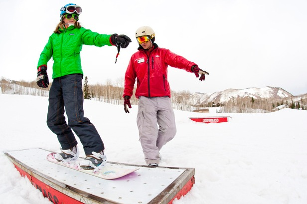 Aspen/Snowmass ski school teachs boarders and skiers everything from terrain park tricks to big mountain skiing.