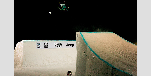 Bobby Brown takes first place during the Men's Ski Big Air at Winter X Games 14.