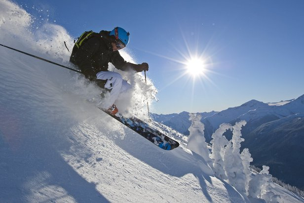 A skier cuts powder at Whistler Blackcomb. - ©Paul Morrison/Whistler Blackcomb