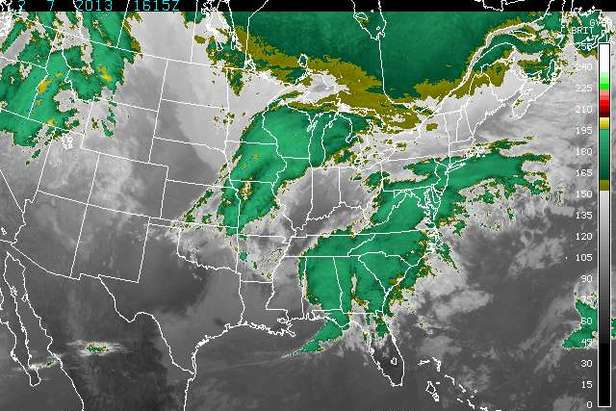 Satellite imagery of huge storm about to hit Eastern U.S. - ©NOAA