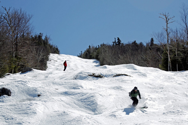 Plenty of snow coverage along with much more seasonable temperatures at resorts like Wildcat in New Hampshire made for some great spring skiing conditions.