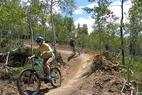 Granby Bike Winter Park Sol Vista Sherri Harkin 2 - Mountain bikers at Granby