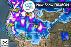 Snow Before You Go: Parade of Storms to Drop Powder out West - ©Meteorologist Chris Tomer