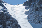 Silverton Mtn CO Skiing Oct 6th - Skiers at Silverton Mountain,
