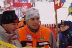 Rainer Schönfelder jubelt beim Slalom in Adelboden - ©XNX GmbH