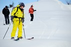 Scoping out lines with Sun Valley Heli-Ski Guides. - Scoping out lines with