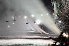 First class snowmaking at Granite Peak Ski Area. - First class snowmaking at