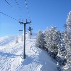 Sundance UT lift and groomed slope