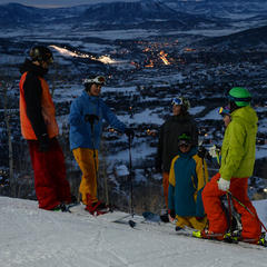 Night skiing just opened up at Steamboat.