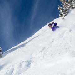 Meredith at a powder shoot on Aspen Highlands - ©Jeremy Swanson
