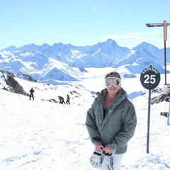 Top of the Sarenne piste, Alpe d'Huez