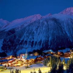 Courchevel at night, FRA