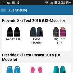 App: Materialtests auf Android - ©Skiinfo
