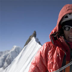 Ines Papert am Gipfel des Kwandge Shar - ©© winterinnepal.blogspot.com/Cory Richard