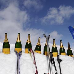 Šampus chladený snehom, La Marmite, St. Moritz - ©La Marmite, St. Moritz