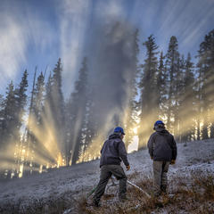 Copper making snow - ©Tripp Fay, Copper Mountain Resort