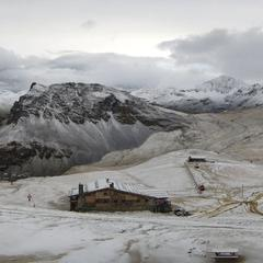 Premiere neige de l'hiver à Val d'Isère (15 septembre 2016) - ©Twitter Romu Radio ValdIsère