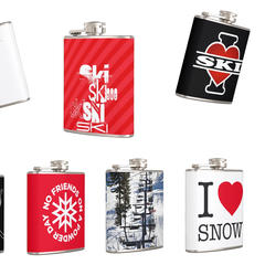 flasque estampillée ski/snowboard - ©zazzle.de