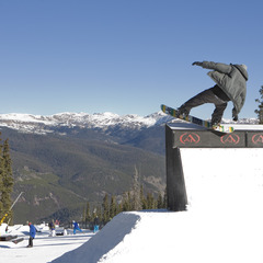 Snowboard trick in Keystone, Colorado