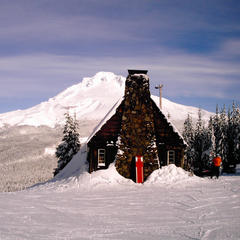 Mt Hood Ski Bowl historic warming hut