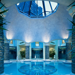 Soak in the Banff Springs Hotel's pool after a long day on the slopes