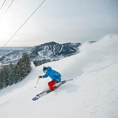 Powder skiing at Canyons Resort