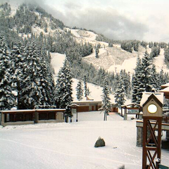 Snow at Stevens Pass on Oct. 23, 2012. Photo courtesy of Stevens Pass webcam.