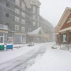 Hurricane Sandy is already starting to dump snow at Snowshoe Resort