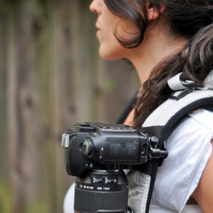 The capture camera clip system works great on backpack straps and provides easy access to your camera.