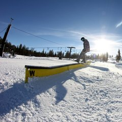 Skier Kyle Murphy enjoying the early season snow at Boreal.