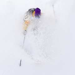 A rare deep powder day last season on the East Coast.