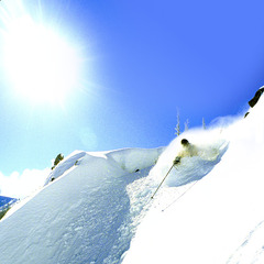 A sunny powder day at Mission Ridge. Photo courtesy of Mission Ridge.