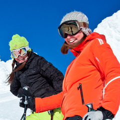 Sunny day skiers at Big White. Photo by Kieran Barrett, coutesy of Big White Resort.