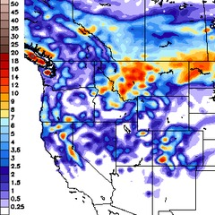 GFS Snowfall forecast through Tuesday 11/13.
