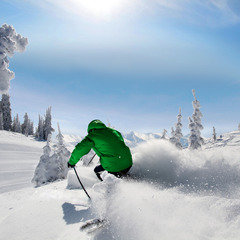 A bluebird powder day at Silver Star. Photo by Rowan Thornton, courtesy of Silver Star Mountain Resort.