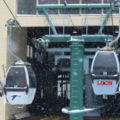 The four person Gondola at Loon Mountain.