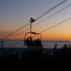 Grouse Mountain at night