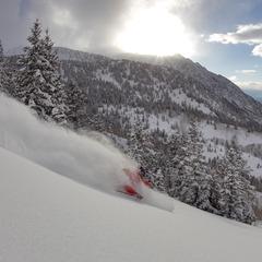 Skiing the Snowbird Backcountry