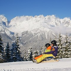 sledding in SkiWorld Wilder Kaiser Brixental