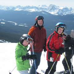 Patrick Thorne & family in Lake Louise, Canada