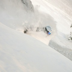 Eric Rasmussen gets deep at Wolf Creek.