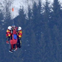 Lindsey Vonn was airlifted off the mountain after a serious crash at the World Alpine Championships in Austria.