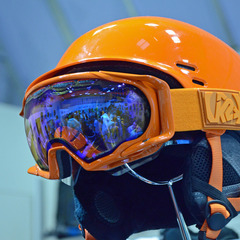 Matching helmets and goggles were a trend at the ISPO 2013