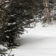 Forrest Twombly made the most of the fresh snow Friday at Sugarbush.