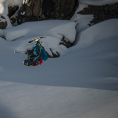 KC Deane throwing down at the Swatch Skiers Cup. - ©D.Carlier/swatchskierscup.com